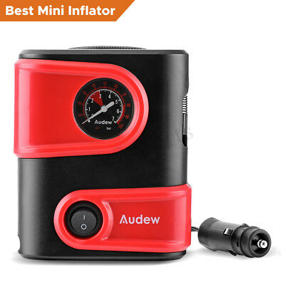 AUDEW 100W DC 12V Car Tire Inflator Electric Mini Auto Air Compressor Pump Tyre
