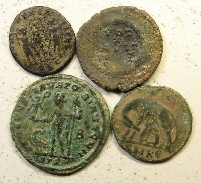 Lot of 4 Roman Imperial 4th Century Bronze Coins