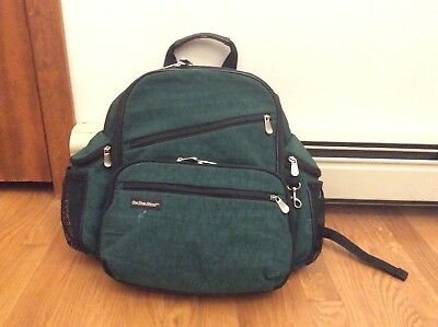 One Step Ahead baby backpack/diaper bag, deep green color, Very Good Condition!