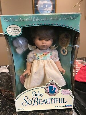 1995 Playmates Toys Baby So Beautiful  Dark Blonde Brown Eyes New in box w/Accs