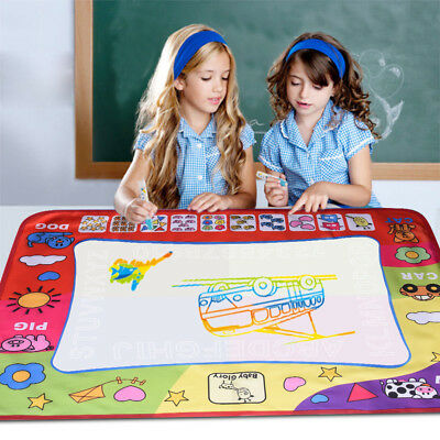 US Kid Drawing Water Pen Painting Magic Doodle Aquadoodle Mat Board Boy Girl Toy