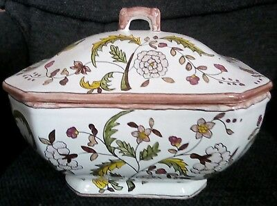 FFA Marques Hand Painted Ceramic Soup Tureen and Platter -  Made in Portugal
