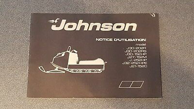 Extremely RARE !!! Vintage 1971 JOHNSON Motors Snowmobile Owner`s Manual !!!