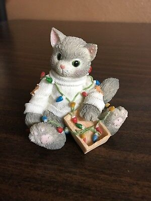 """Calico Kittens By Enesco- """" You Brighten My Holidays"""" # 178365"""