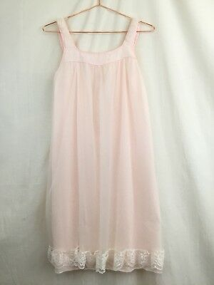 Aristocrat By Superior Vintage Pink Babydoll Nightgown Size Small