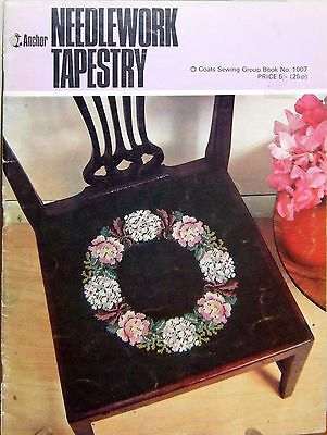 Vintage retro 1965 embroidery leaflet - Needlework Tapestry - 11 designs