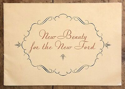 RARE Vintage 30's New Beauty For The New FORD Auto Car Dealer Brochure Book