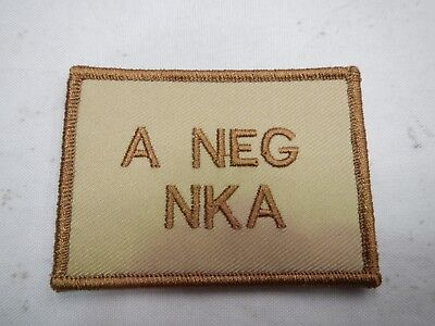 PLATATAC A  NEG NKA Blood Group Patch KHAKI / TAN