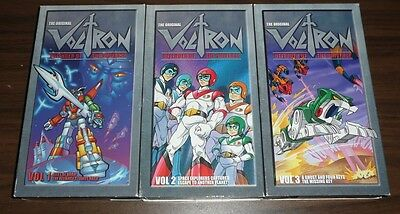 The Original Voltron Defender of the Universe Vol. 1, 2, 3 VHS + FREE DVD