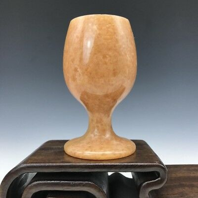 Chinese antique ancient carving jade exquisite carving wine glass / cup