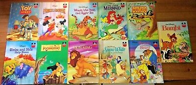 Vintage Children's Books: Disney's Wonderful World of Reading, Lot of 11, VG