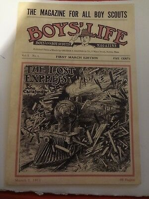 """Bsa- Boy Scout """"boys Life"""" Repo Of Vol.1- No.1 2 Available"""