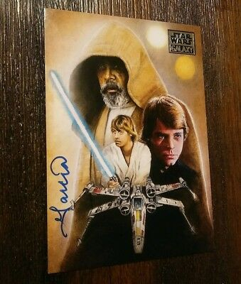 Topps Star Wars Galaxy 8 Base #46 Artist Signed