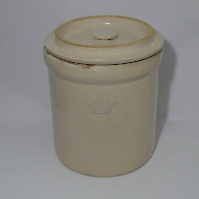 Vintage 3 Gallon Robinson Ransbottom Stoneware Crock with Lid