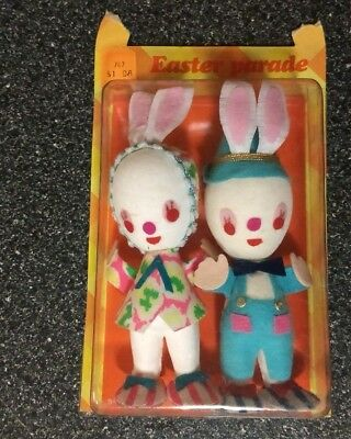 Vintage Easter Parade Easter Plush Bunnies