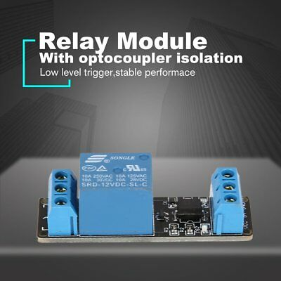 12V 1 Way Relay Module Interface Board Low Level Trigger Optocoupler Arduino F7