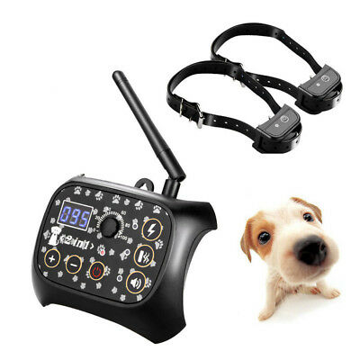 Electric Pet Dog Fence Wireless Waterproof Barrier Boundary Collar Set for 2 Dog