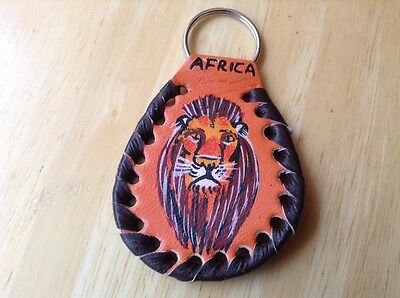 African-Arena Handmade Maasai Masai Lion Leather Tribal Ethnic Key Holder AA103