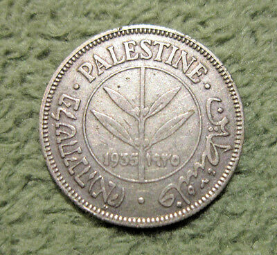 🔥 PALESTINE 1935 50 Mils Silver Coin Looks Great!! 🔥