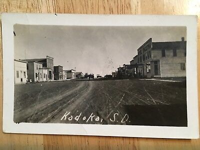 Vintage 1908 KADOKA SD Dirt Road Main St. HOTEL DACOTAH Real Photo Postcard RPPC