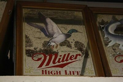 Miller High Life Mallard Duck Bar Mirror Sportsmen Series 1st Edition 211