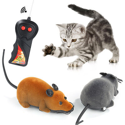 New Remote Control RC Rat Mouse Wireless For Cat Dog Pet Funny Toy NL