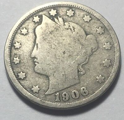 United States 1906 Liberty Head Five Cents (Nickel) Coin