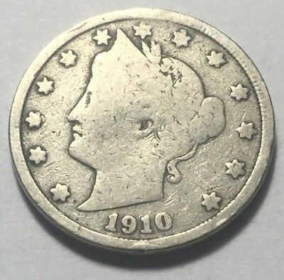 United States 1910 Liberty Head Five Cents (Nickel) Coin