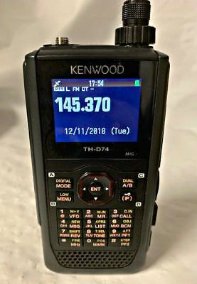 U4532 Used Kenwood TH-D74A Tri-Band HT 144 / 220 / 430 MHz