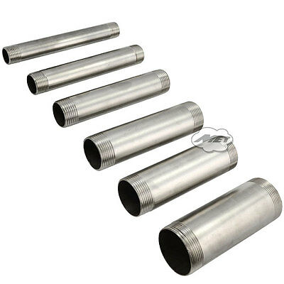 """NPT Threaded Pipe Fitting 1/4"""" Male x 1/4"""" Male 200MM DN8 Stainless Steel SS304"""