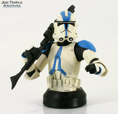 Star Wars Gentle Giant Clone Trooper Deluxe mini Bust BLUE 501st Special Ops