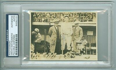 1931 US Tour of Japan LEFTY GROVE, MATSUMOTO Auto/Autograph Picture/Snapshot