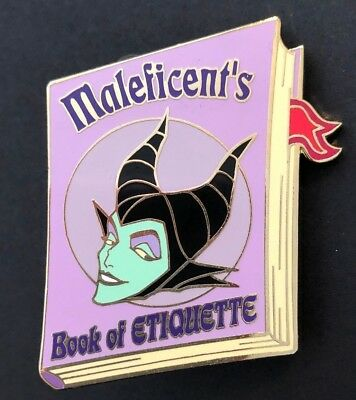 disney trading pin limited edition Maleficent's book of etiquette vintage villai