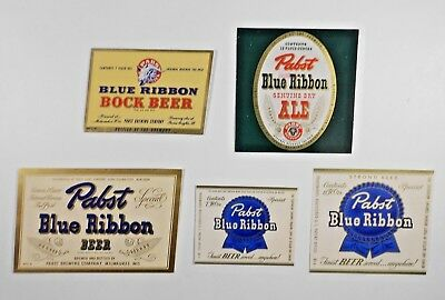 USA IRTP Beer Label Lot  #523 - Illinois -Pabst -  5 Different