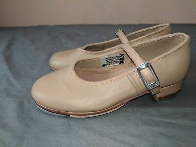 Bloch Mary Jane tap shoes girls size 10 nude