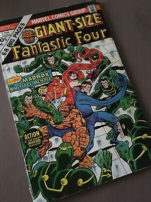 Giant-Size Fantastic Four #4 First Appearance of the Multiple Man, Jamie Madrox