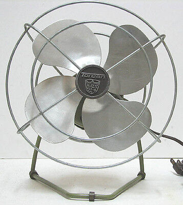 """vintage Torcan 8"""" Electric AC Fan All Metal Works Perfectly Great"""