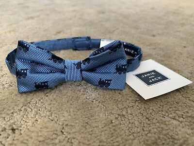 NWT Janie and Jack Baby / Toddler Boy Blue Train Bowtie - Up To 3 Years - New