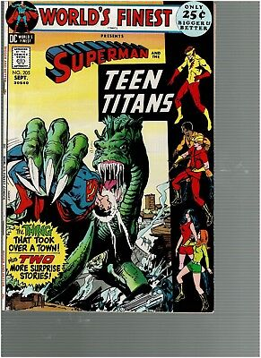 Worlds Finest 205 Superman Teen Titans 48 pgs Neal Adams cover VF+