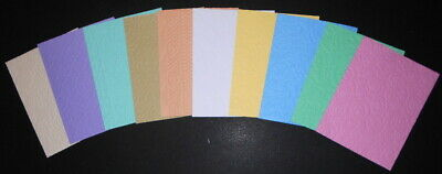 Embossed Textured Cardstock x 10 ~ 10 COLOURS & DESIGNS ~ SCRAPBOOKING/CARDS