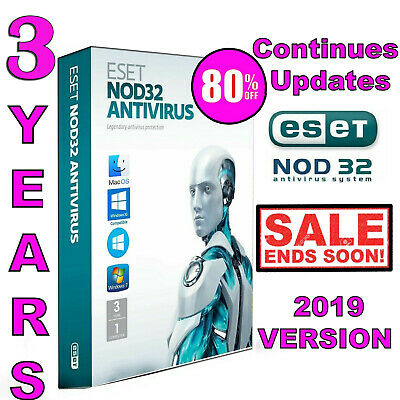 ESET NOD32 AntiVirus 2019/21, 1 PC-2 Year++ -Windows & Mac online ( 730 Days++)