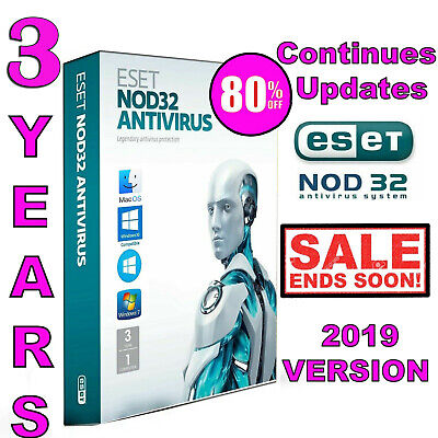 ESET NOD32 Antivirus 12 Genuine Product Key | 3 YEARS | 1 PC | NOD 32 | Online.