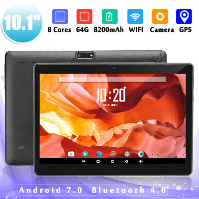 10.1'' 4G + 64GB Android 7.0 HD Tablette PC Octa 8 Core WIFI Bluetooth 2 SIM //