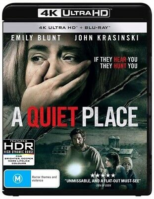 A Quiet Place  Blu-Ray  Uhd (Uhd, 2018) 🍿 [Brand New & Sealed]
