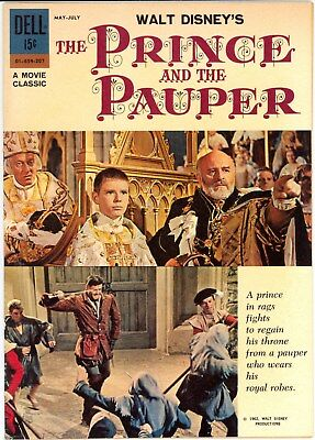 """Dell Walt Disney's Prince And The Pauper """"nn"""" Vf- Aka Missing Four Color 1324"""