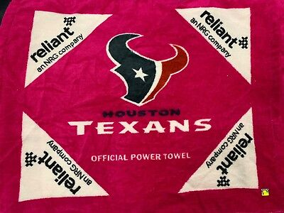 low priced dc935 ad6c7 2014 HOUSTON TEXANS Official Pink Breast Cancer Power Towel Reliant Nrg New