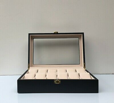 Factory Seconds Wooden Watch Box Case Display Wood Jewellery Red or Matte Black