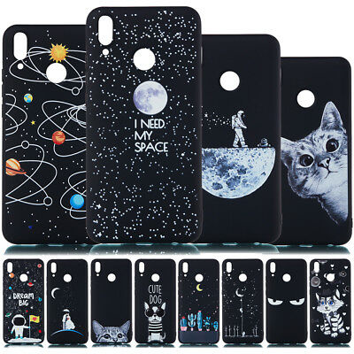 For Huawei Y5 Y6 Y7 Prime 2018 Y9 2019 Painted Slim Soft Silicone TPU Case Cover