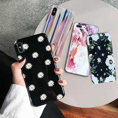 Cute Pattern Gloosy IMD Soft Rubber Case Cover For iPhone XS Max XR X 8 7 Plus 6