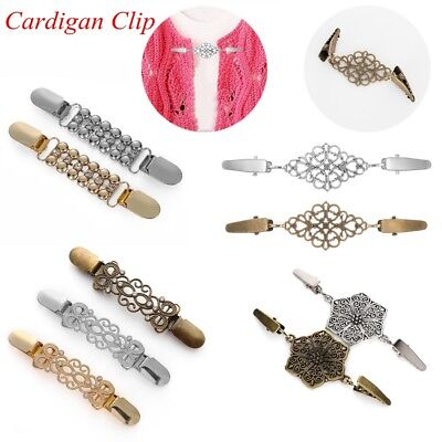 Cardigan Sweater Blouse Shawl Clips Crystal Shirt Collar Duck Clip Clasps Charm
